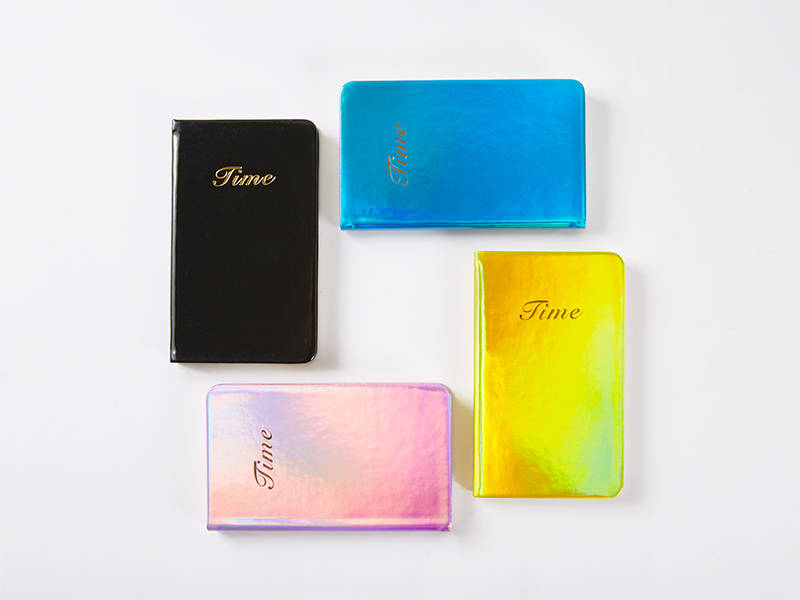 Laser Light Leather Notebook