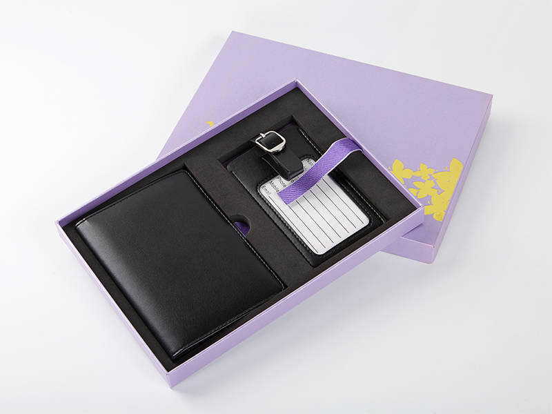 Leather Passport Holder&Luggage Tag Gift Set