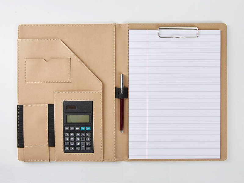 Conference Folder with Calculator