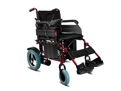 Power wheelchair with red powder coated  AGEC006