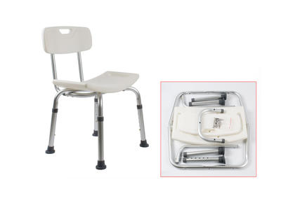 Aluminum bath bench with detachable back AGSC007