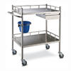 Stainless steel treatment trolley AGHE024