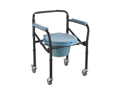 Medical lightweight steel commode toilet chair AGSTWC005