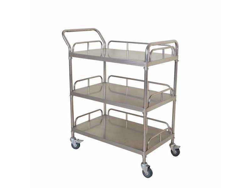Medical stainless steel 3 layers treatment trolley AGHE021