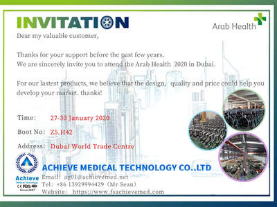 Sincerely invite you to the exhibition -- Arab Health 2020