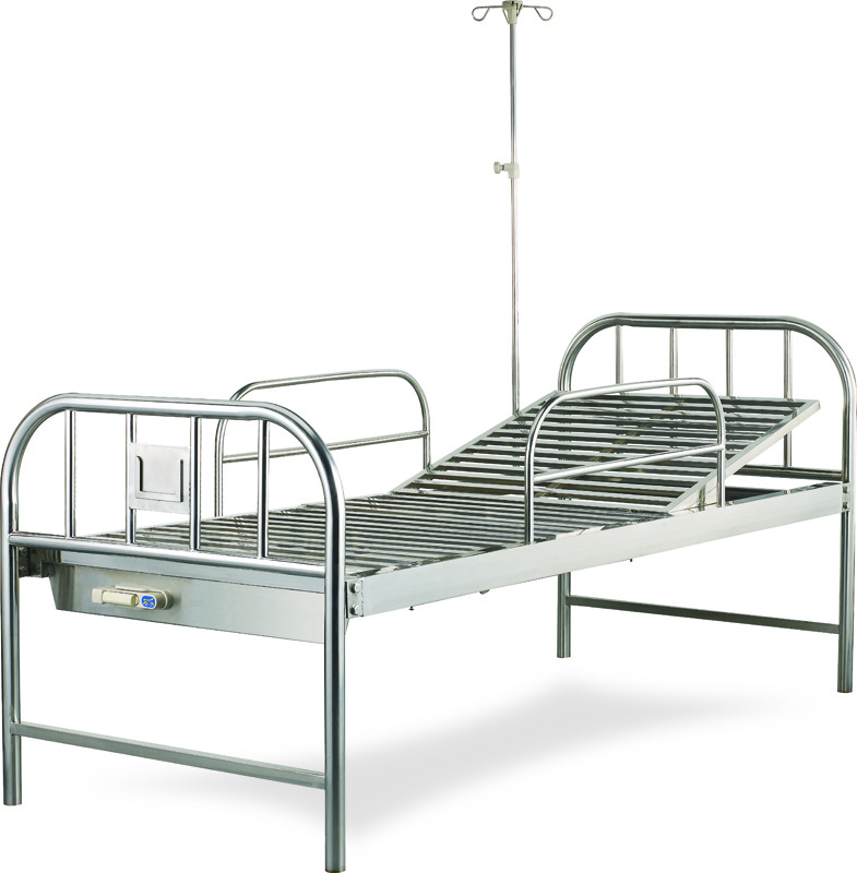 AGHBM017 1-CRANKS MANUAL STAINLESS STEEL BED