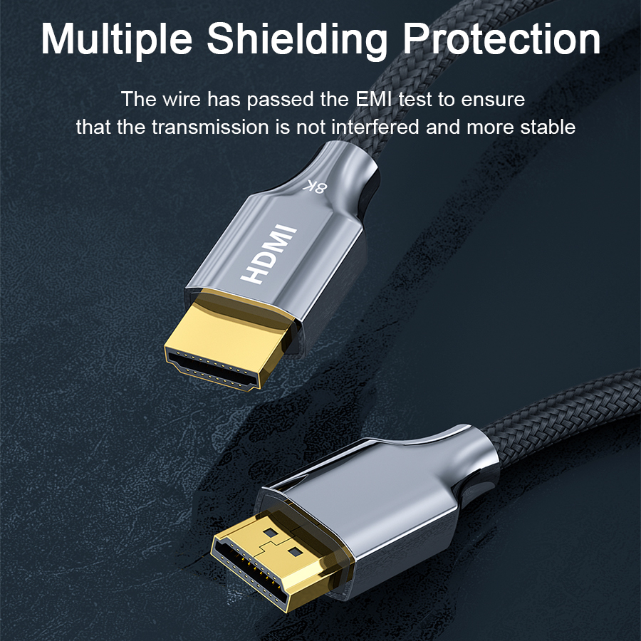 8K HDMI Cable, Ultra High Speed 48Gbps 8K60 Cable