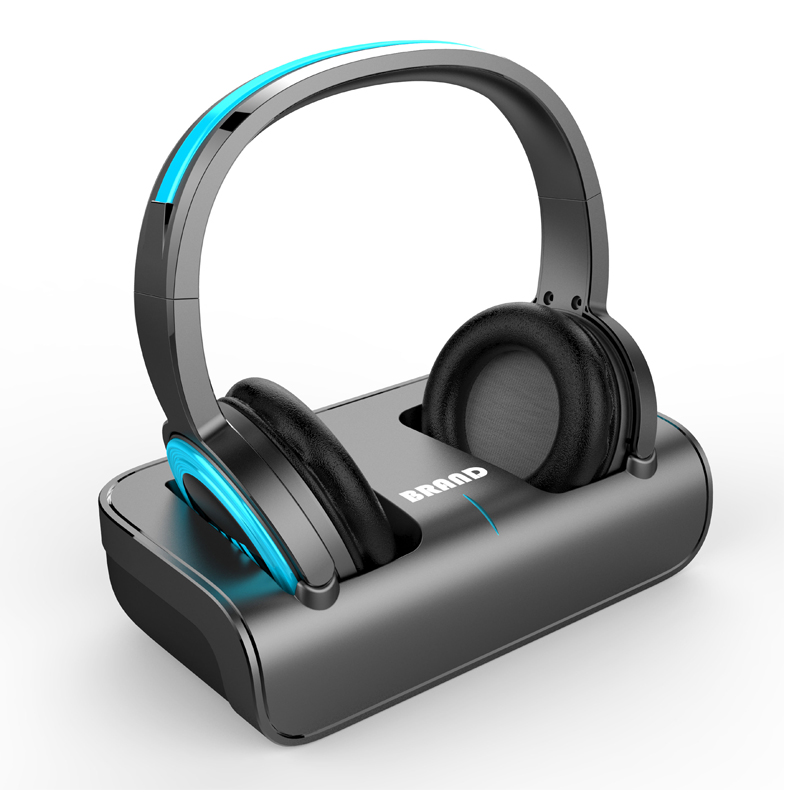 TV Headphone with Charging Dock