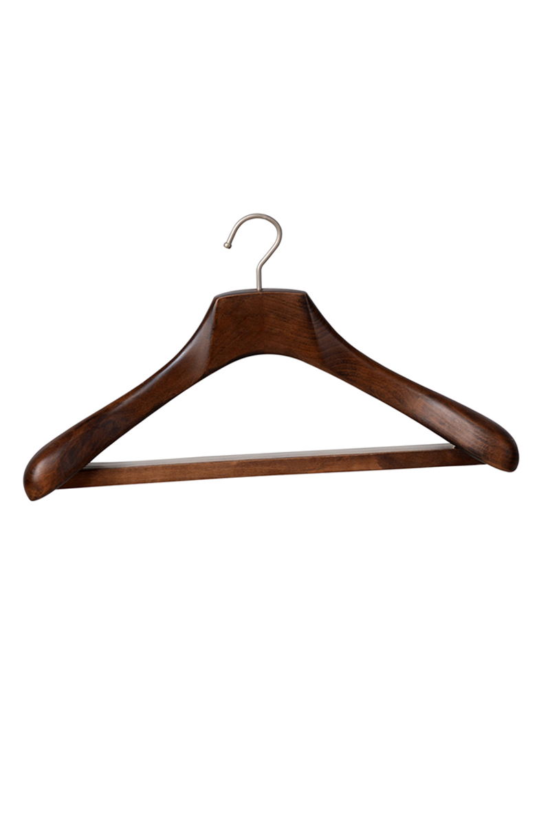 Wooden coat clothes suit hanger wholesale clothing hanger(YJA)