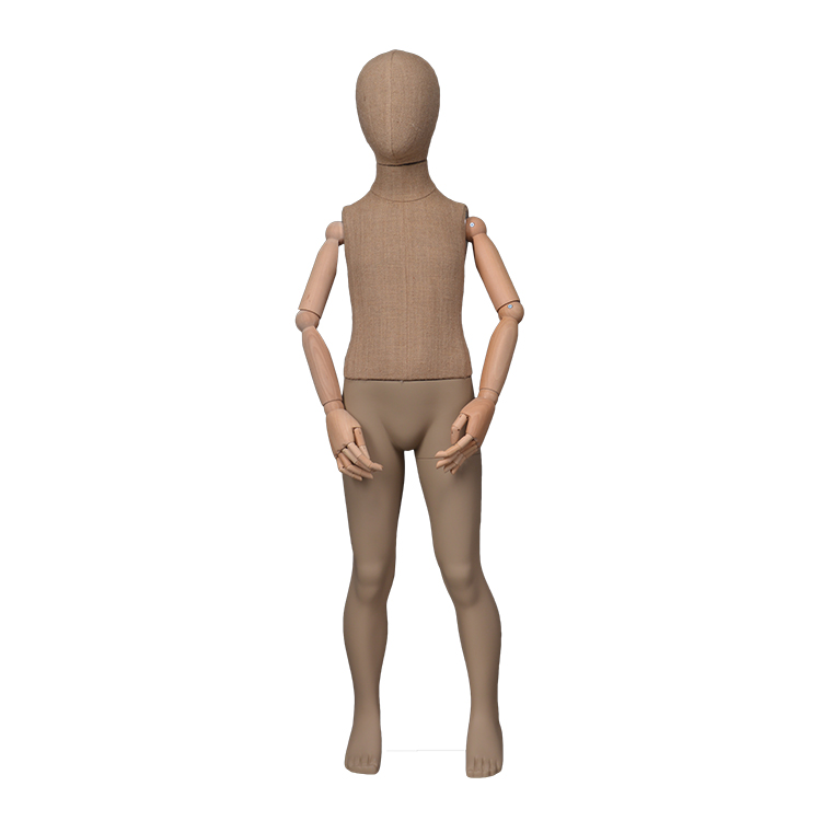 Abstract kids linen wrapped manikin child size display mannequins on sale(EK,child mannequin torso)