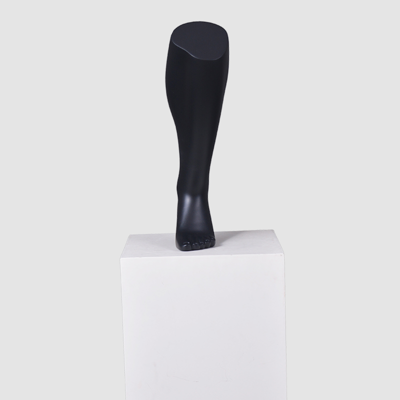 Customized black male foot mannequin for sock display(EH)