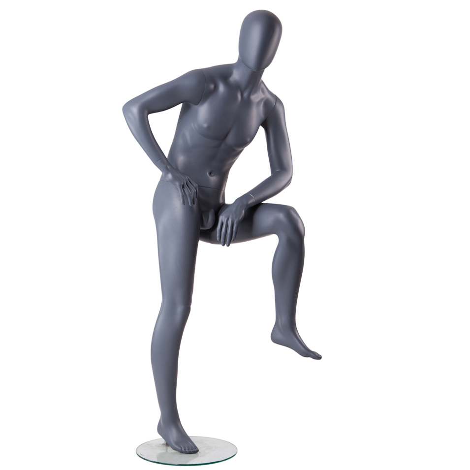 Wholesale cheap sitting muscle male mannequin poseable with penis men for sale(TMA mannequin poseable)