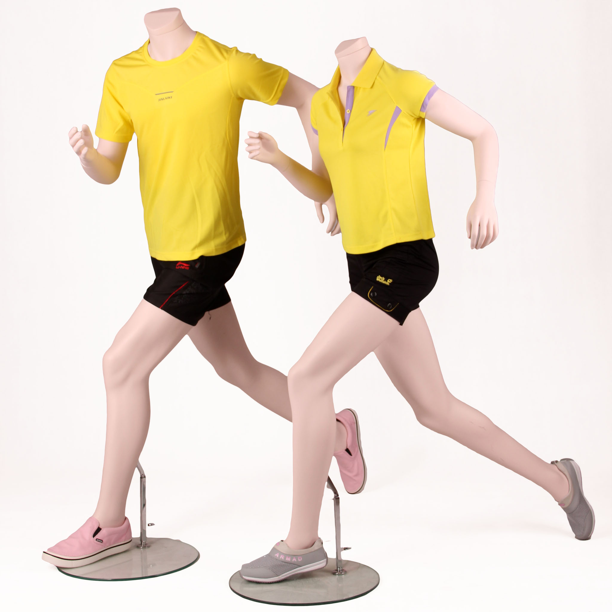High quality sport mannequin running male and female full body moving mannequin (WPM)