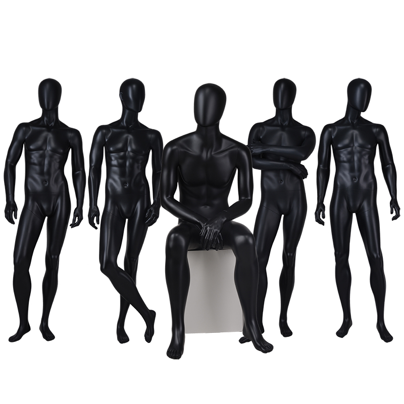 Customized fashion model mannequin black male model mannequin for sale (FTM)