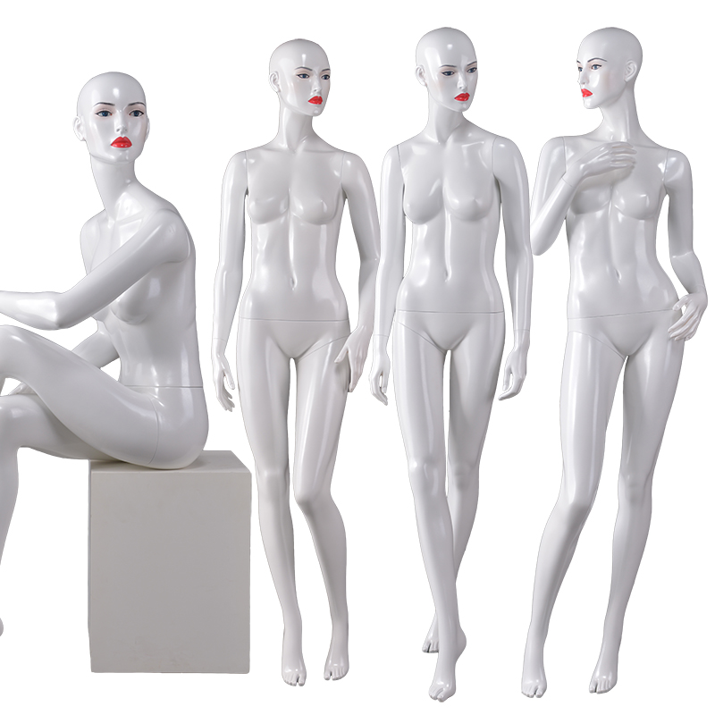 Full female makeup mannequins sexy pose nude female window display mannequin(BF)