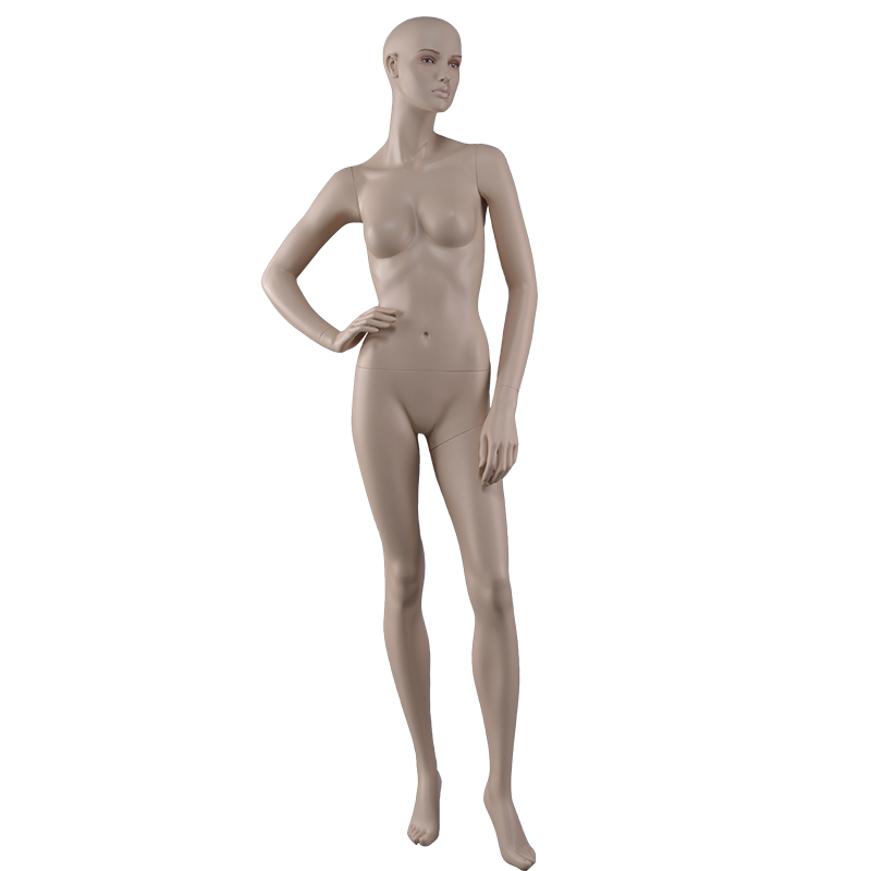 Hight quality glossy ABS mannequin ladies nude female full body plastic mannequins for sale(PC series female torso mannequin )