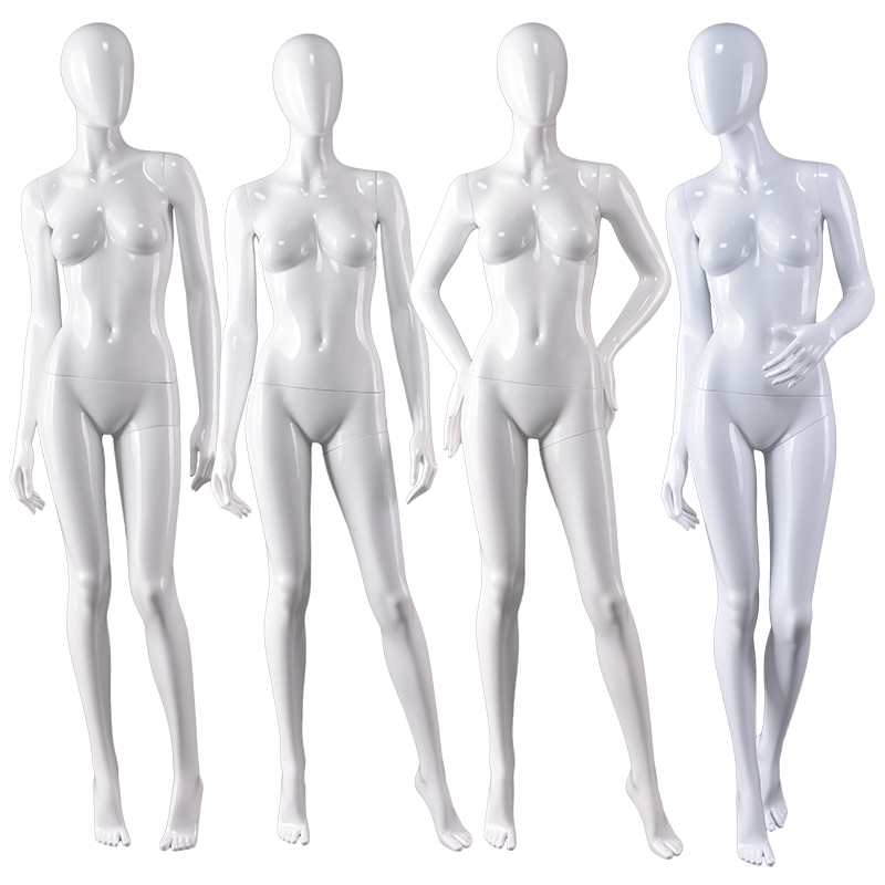 Western fashion dummy fiberglass abstract mannequins full body clothing display manikins abstract female mannequins for sale(LFM series abstract female mannequins)