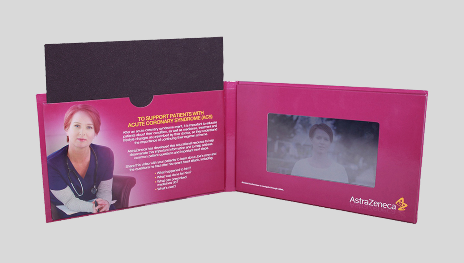 4 7inch hard cover touch screen video brochure