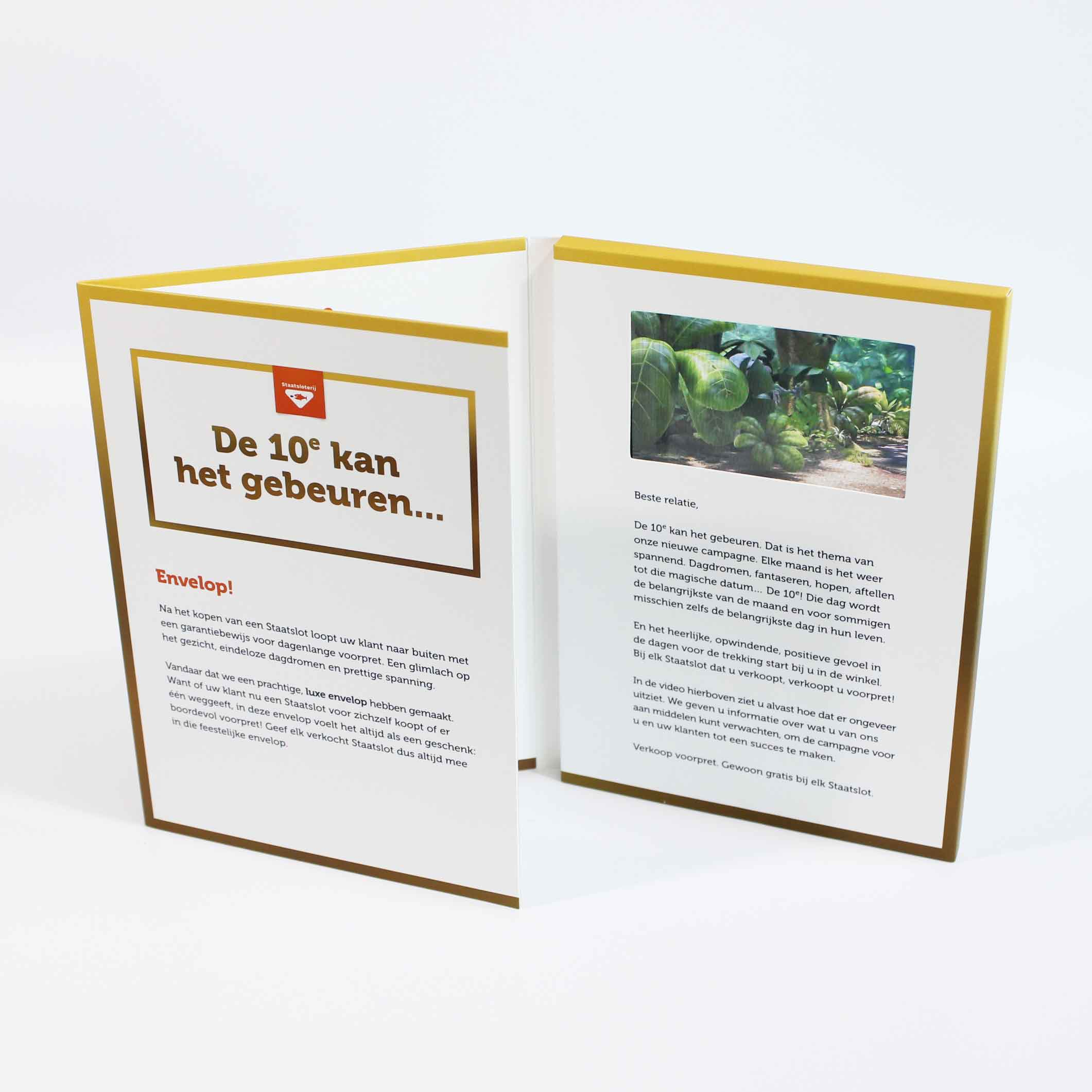 Customized full color printing 7inch soft cover video brochure