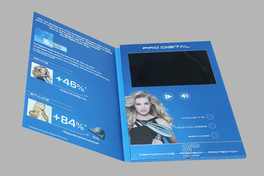 Customized full color printing 7inch soft cover digital brochure