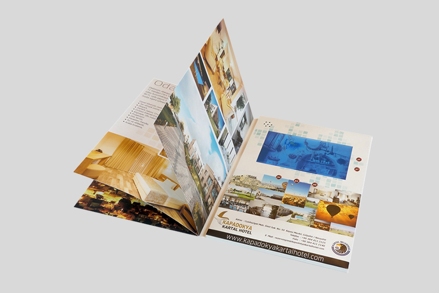Made in China full color printing soft cover video in print advertising