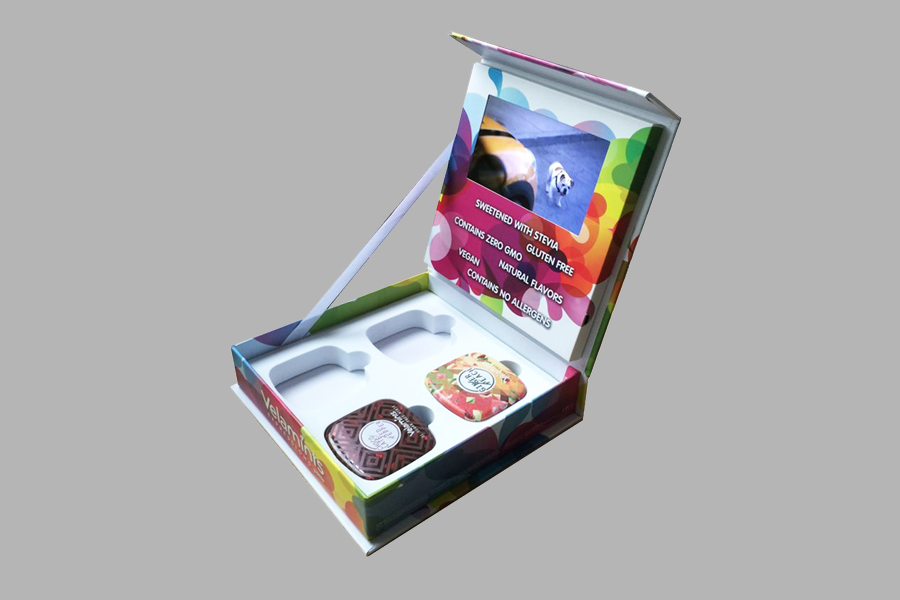 Custom printing video packing box 5inch