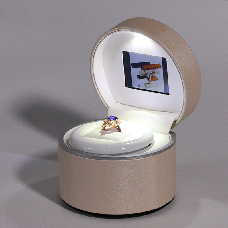 Hot gift of love luxury video ring box luxury video gift box