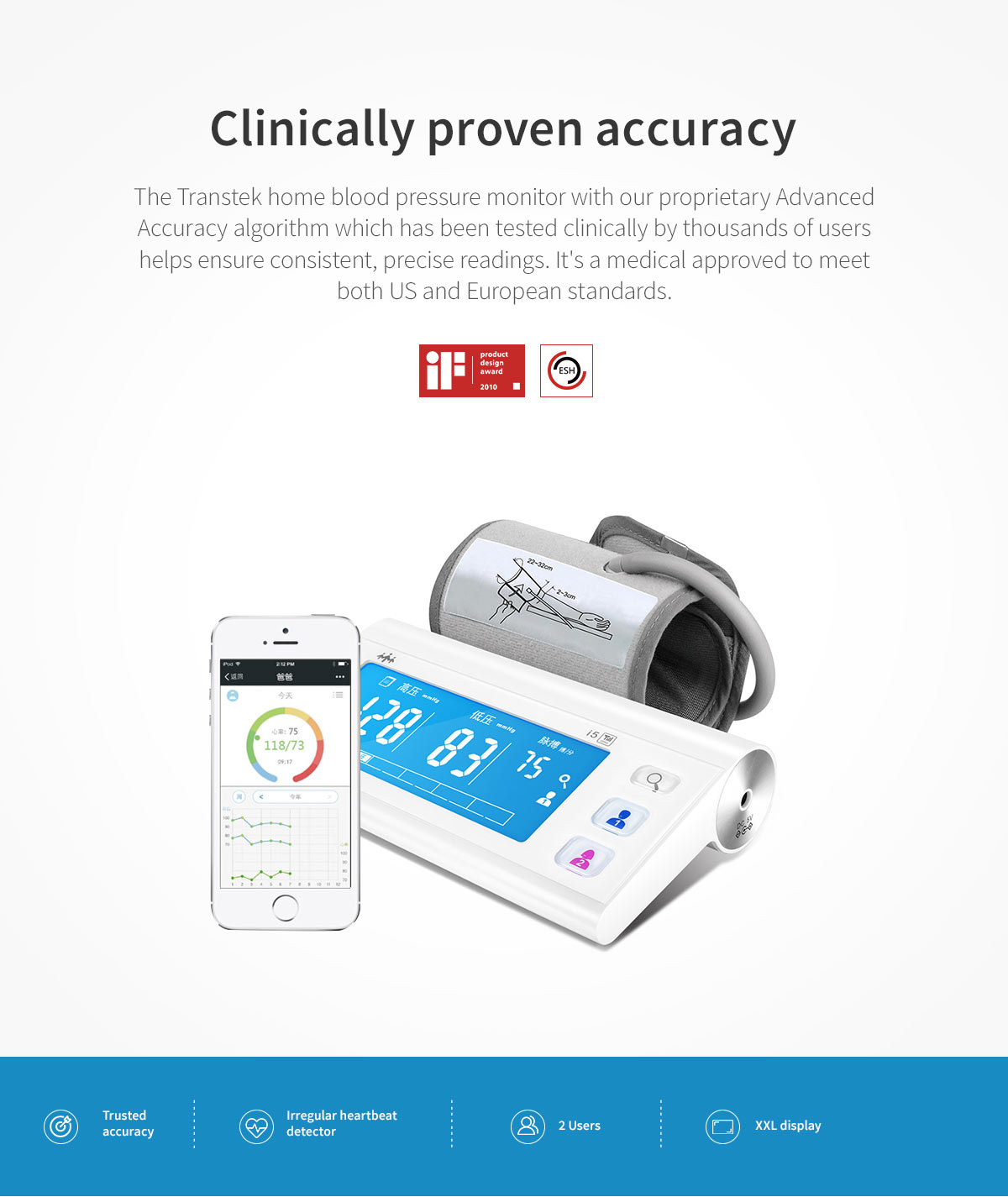 High-quality-medical-device-arm-blood-pressure-monitor-LS-805-supplier
