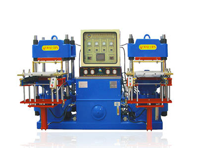 Double workstation 2RT rubber compression molding machine