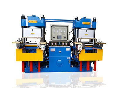 Double workstation 3RT vacuum rubber forming machine