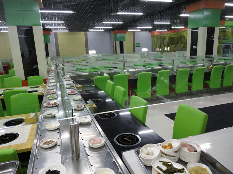rotary hot pot conveyor belt