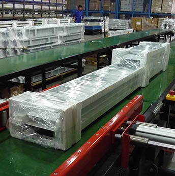 Orbital Wrapping Machines And Packing Lines Provide Dedicate Packaging to Door Frames And Leaves
