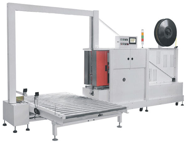 GS-301 Vertical Pallet Strapper is an automatic pallet strapping machine with side mounted sealing body. The strapper can be integrated with driven and non-driven conveyor systems. In the strapping cycle, the sealing body moves towards the load before tensioning, making the tensioning and sealing right against the load. With sealing body stroke of 250mm, precise strap guidance and positioning, Genopac GS301 Strapper is a ideal machine for most pallet packing.