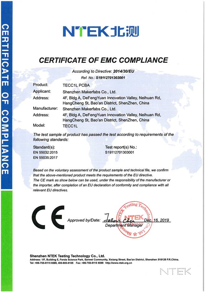 Makerfabs-CE-EMC-certification