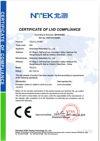 Makerfabs-CE-LVD-Certification