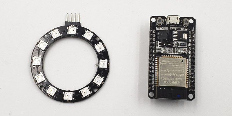 ESP32-Board-and-WS2812-LED
