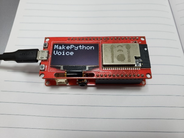 MakePython-ESP32-and-Voice-Interaction-Hat-Connected