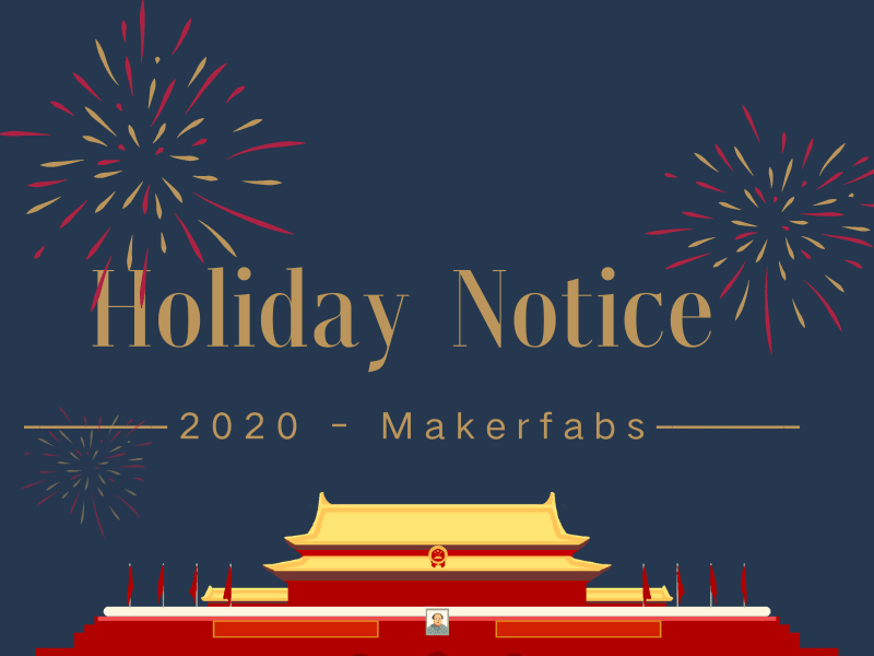 2020 National Holiday Notice: From 1st - 6th, Oct