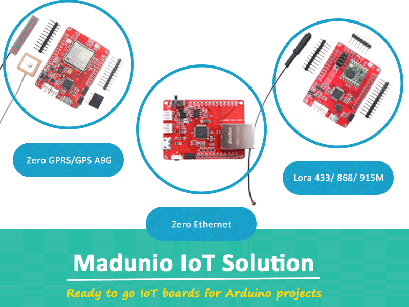 Maduino: Ready to Go IoT Boards for Arduino Projects