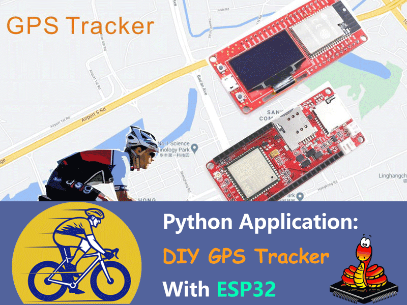 DIY GPS Tracker With ESP32 - Python Application