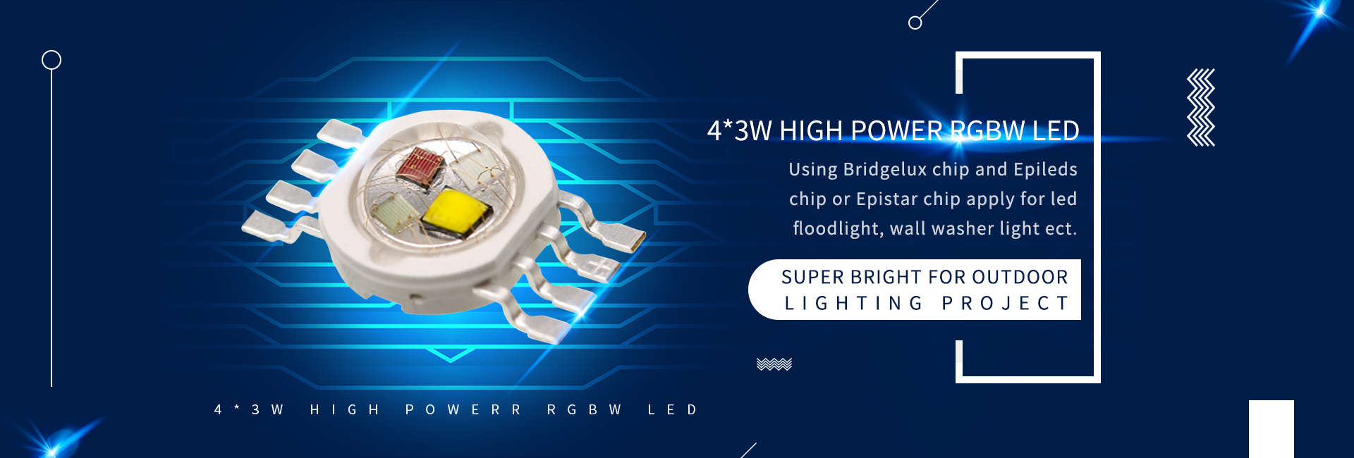 4*3W GIGH POWER RGBW LED
