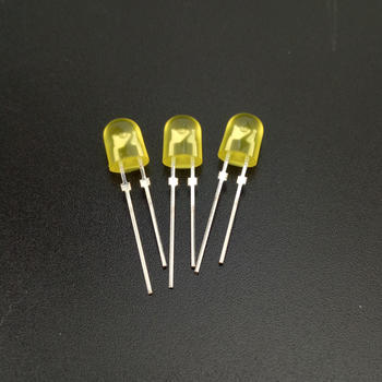 Diffused color dip 546 yellow led diodes 5mm oval led