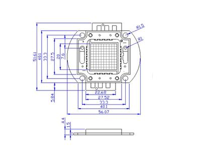 Epistar chip copper frame 60w high power led smd