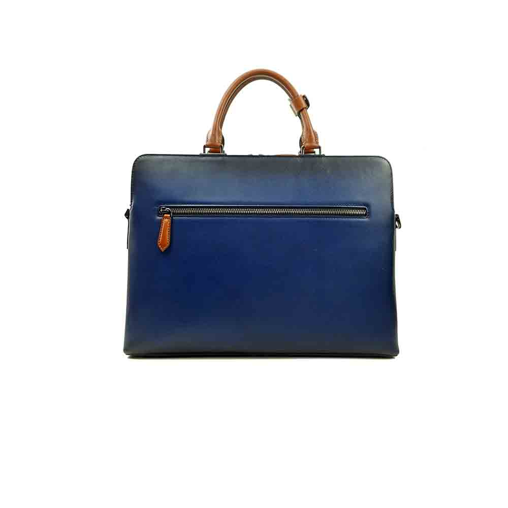High Quality Business Style Men's Genuine Leather Laptop OEM Designer Tote Bags