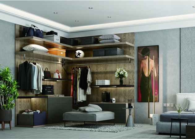 Walk in closet system