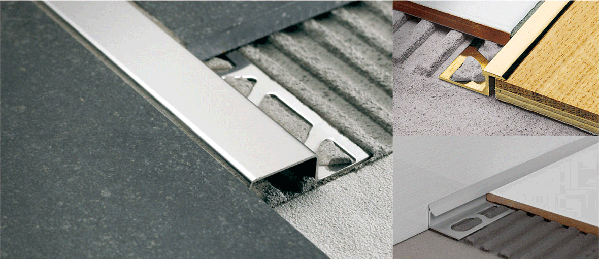 Aluminium trims profiles