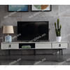 Postmodern light luxury solid wood TV cabinet