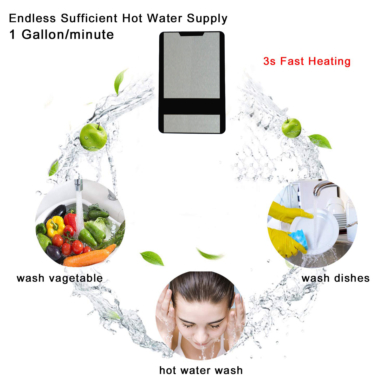 V6 6.5-8.5kw instant tankless water heater