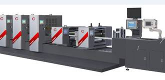 FS350 PS Intermittent Offset Label Printing Machine