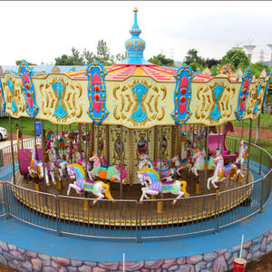 amusement park merry go round carousel horse rides for adult and kids for sale